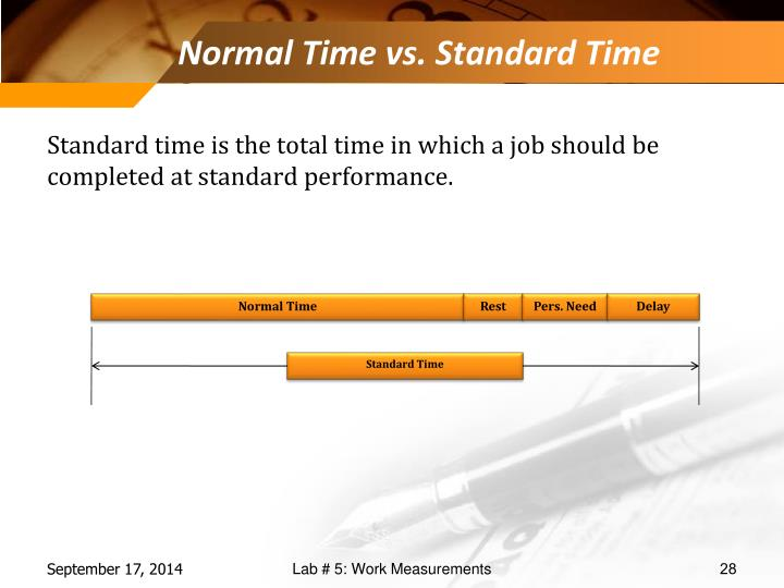 Normal Time vs. Standard Time