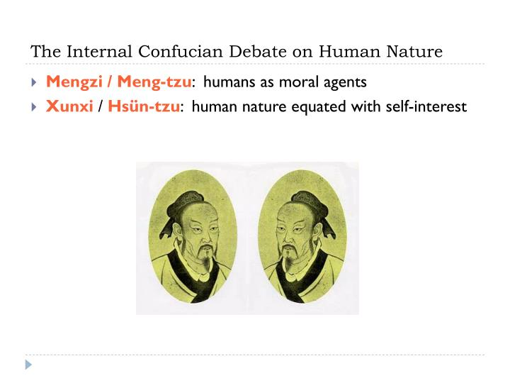 The internal confucian debate on human nature