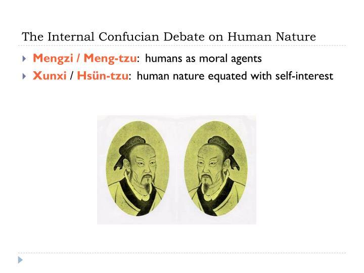 The Internal Confucian Debate on Human Nature