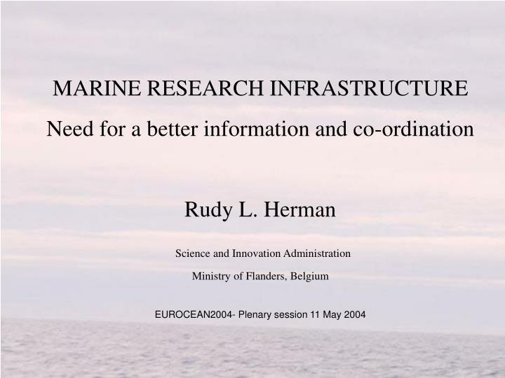MARINE RESEARCH INFRASTRUCTURE