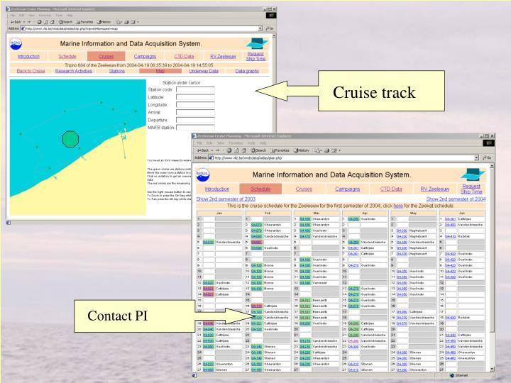 Cruise track