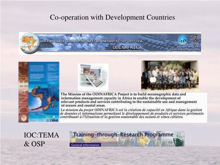 Co-operation with Development Countries