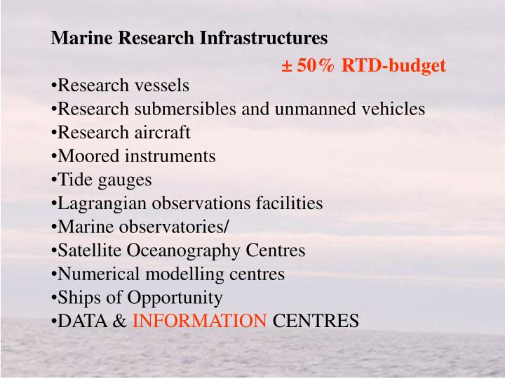 Marine Research Infrastructures