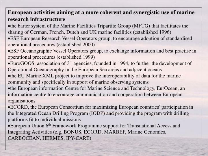 European activities