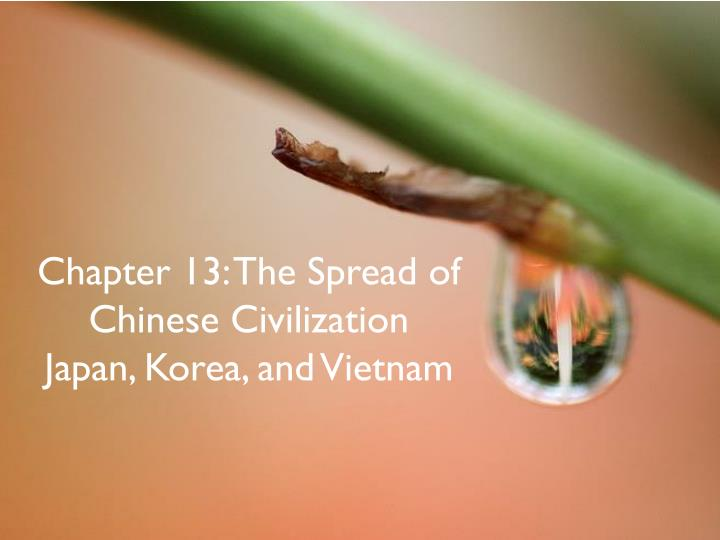 the spread of chinese civilization korea Ap world history: chapter 13: the spread of chinese civilization: japan, korea, and vietnam flashcards.