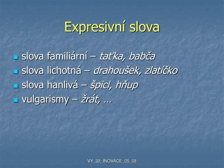 Expresivní slova