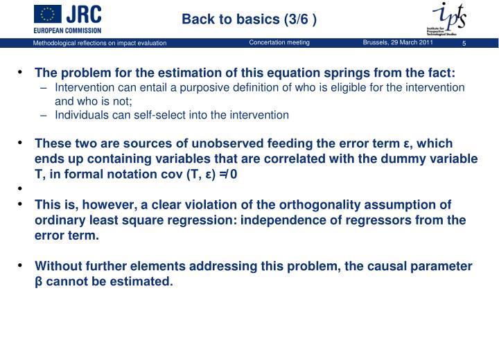 Back to basics (3/6 )