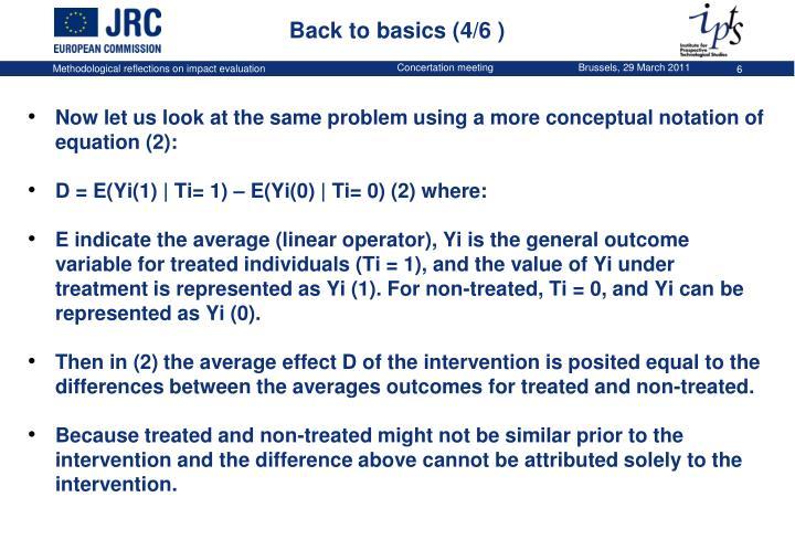 Back to basics (4/6 )