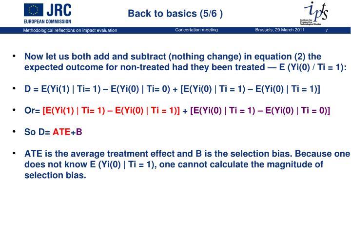 Back to basics (5/6 )