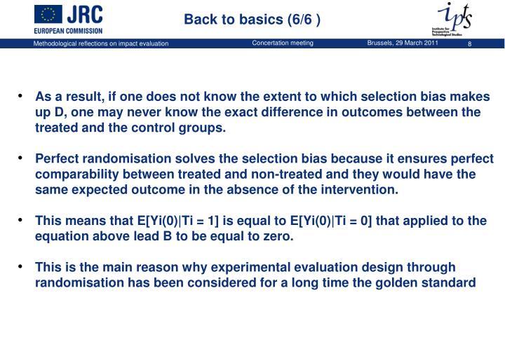 Back to basics (6/6 )