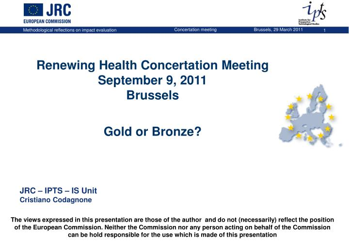 Renewing Health Concertation Meeting