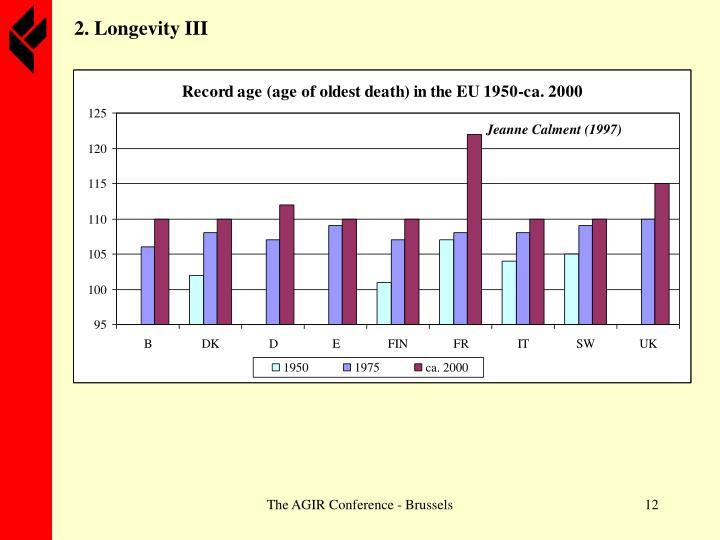 2. Longevity III