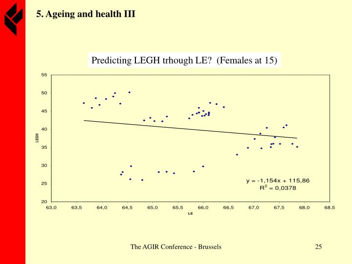 5. Ageing and health I