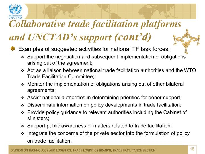 Collaborative trade facilitation platforms