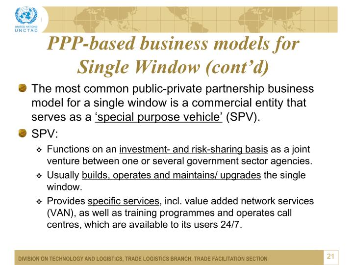 PPP-based business models for