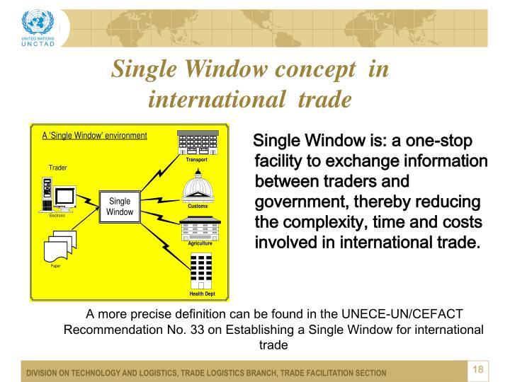 Single Window concept  in