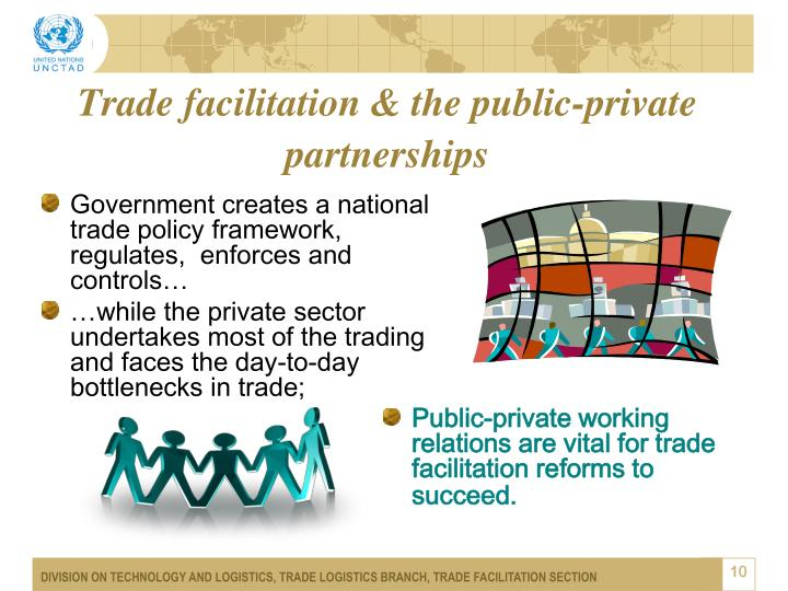 Trade facilitation & the public-private partnerships