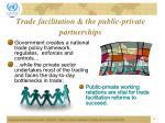trade facilitation the public private partnerships