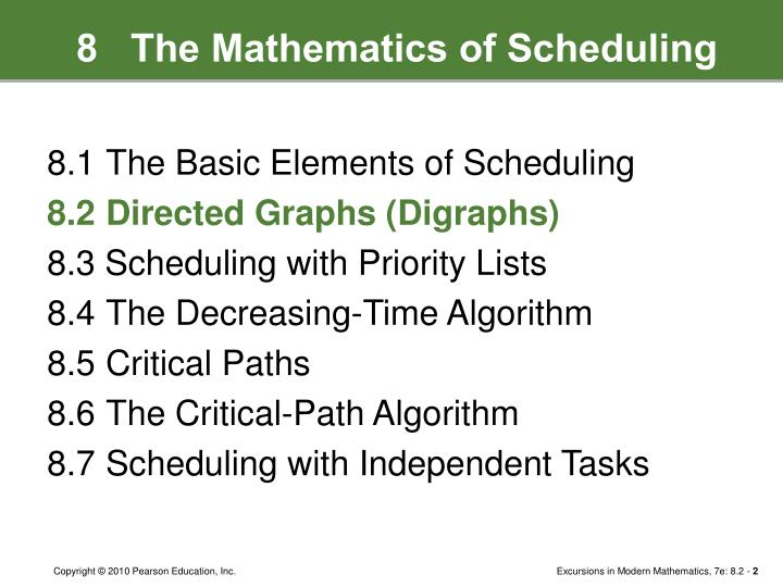 8   The Mathematics of Scheduling