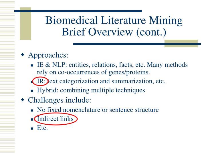 Biomedical Literature Mining