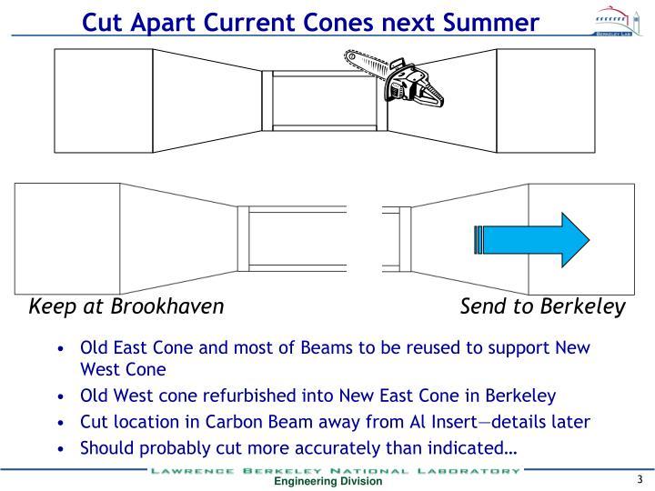 Cut Apart Current Cones next Summer