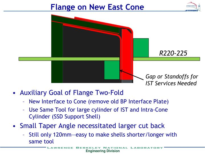 Flange on New East Cone