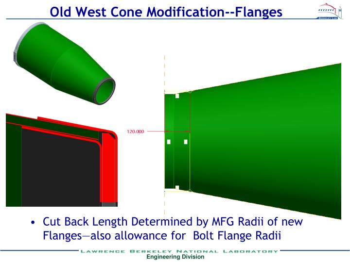 Old West Cone Modification--Flanges