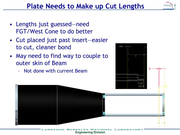 Plate Needs to Make up Cut Lengths