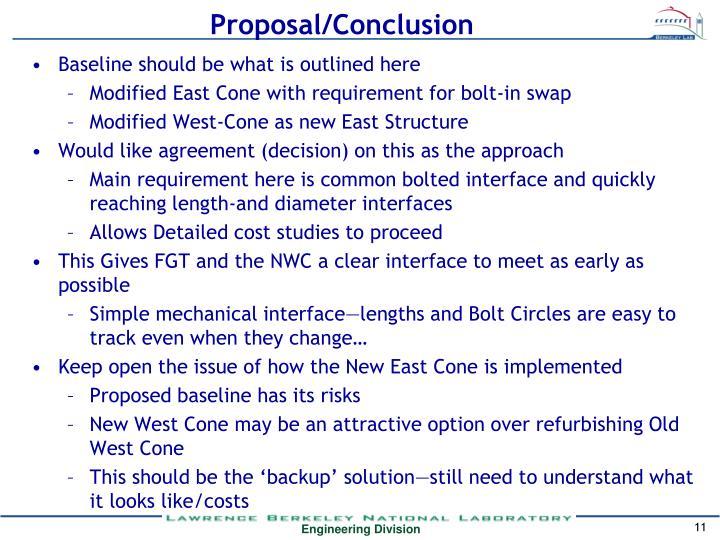 Proposal/Conclusion