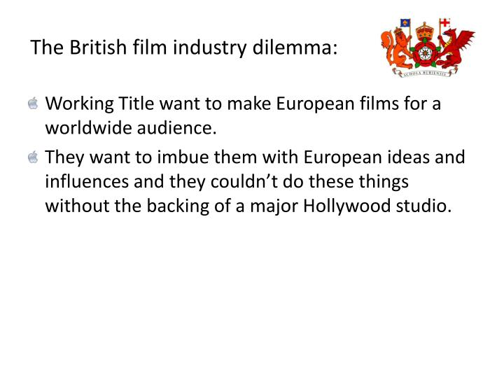 The British film industry dilemma: