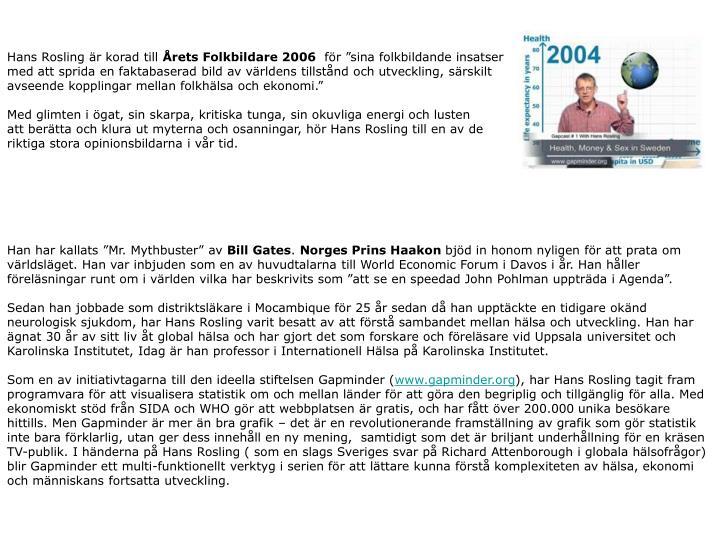 Hans Rosling är korad till