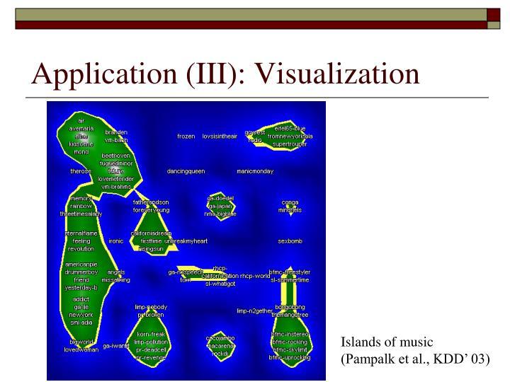 Application (III): Visualization