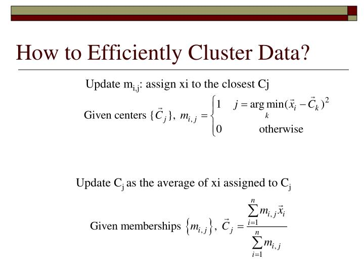 How to Efficiently Cluster Data?