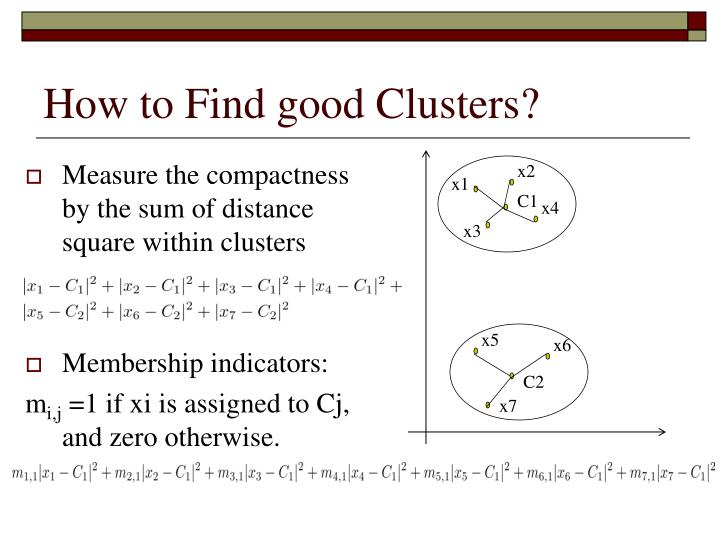 How to Find good Clusters?
