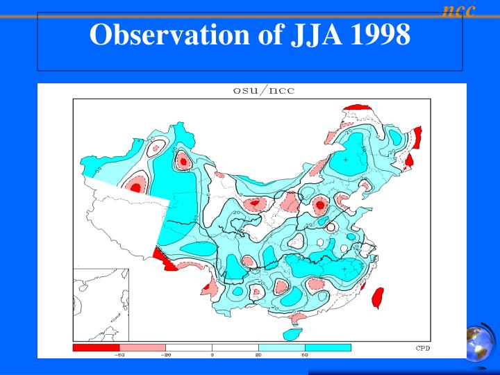 Observation of JJA 1998