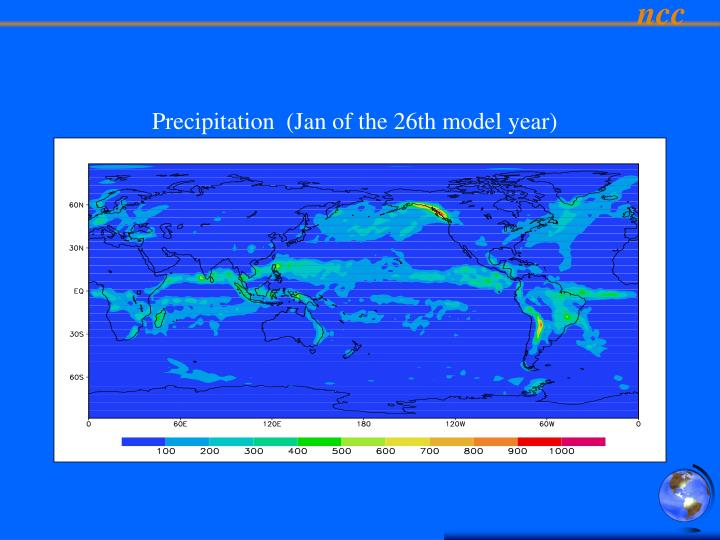Precipitation  (Jan of the 26th model year)