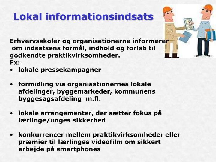Lokal informationsindsats