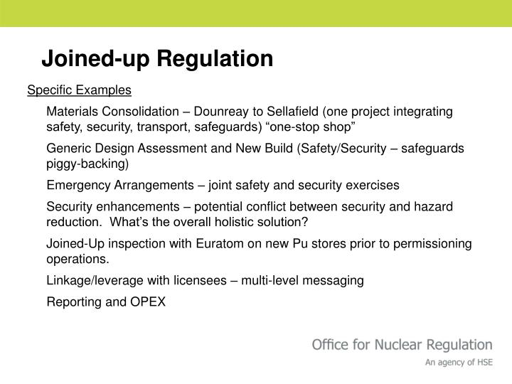 Joined-up Regulation
