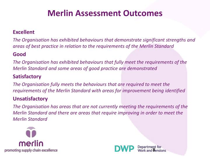 Merlin Assessment Outcomes