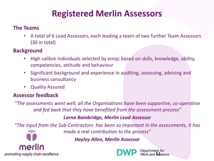 Registered Merlin Assessors