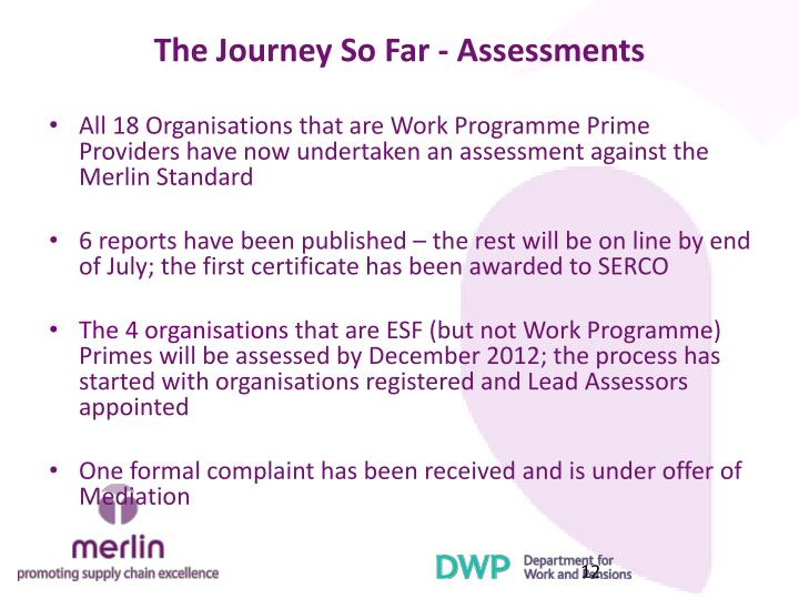 The Journey So Far - Assessments