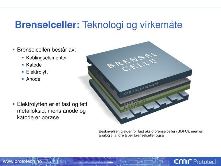 Brenselceller: