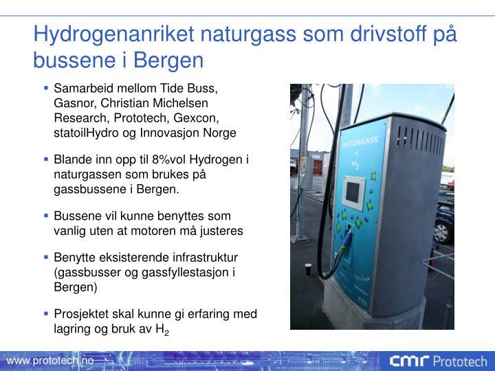 Hydrogenanriket naturgass som drivstoff på bussene i Bergen
