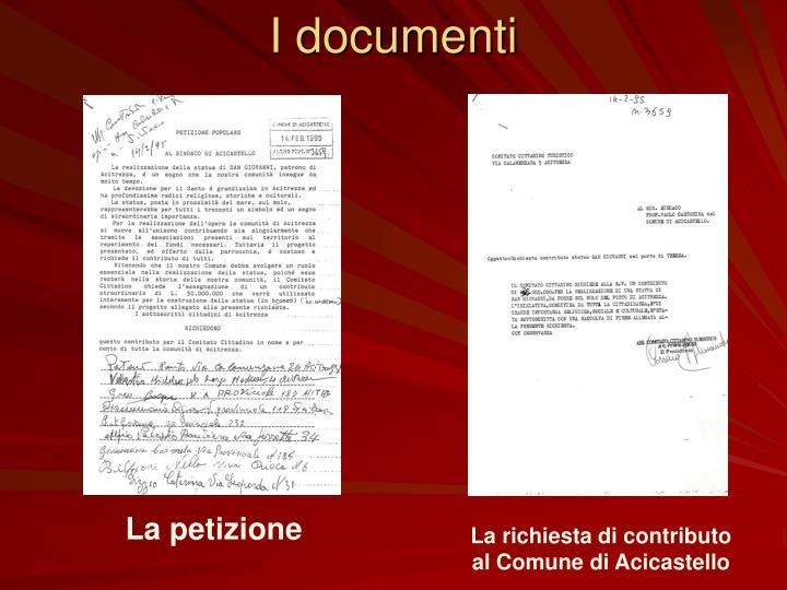 I documenti