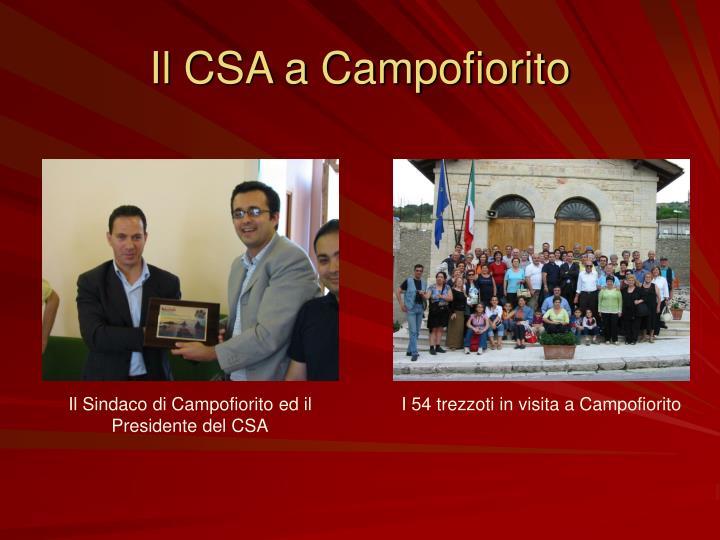 Il CSA a Campofiorito