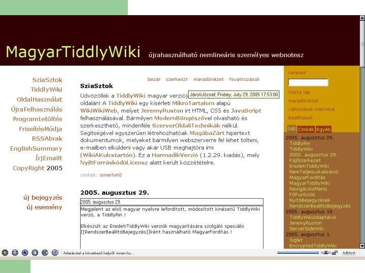 Wiki-szoftverek – a forma