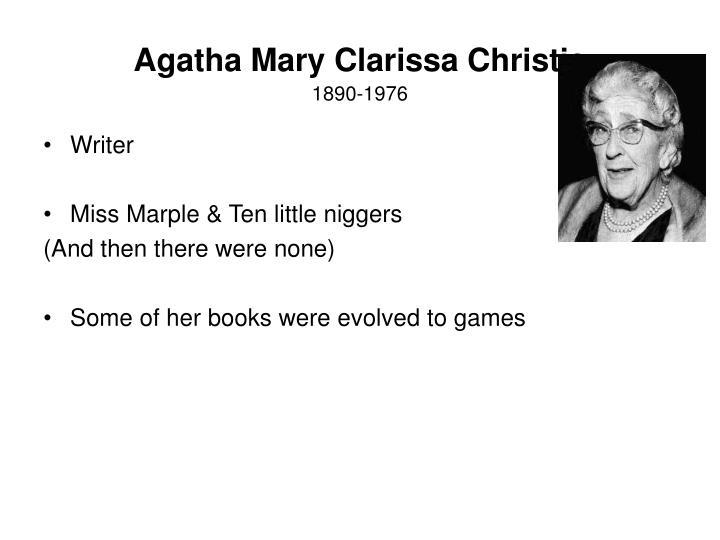 Agatha Mary Clarissa Christie
