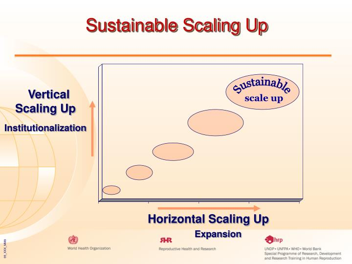 Sustainable Scaling Up
