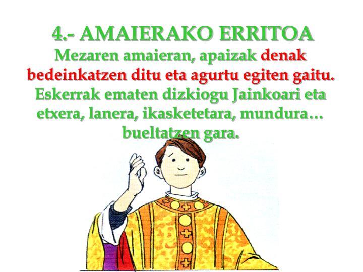 4.- AMAIERAKO ERRITOA