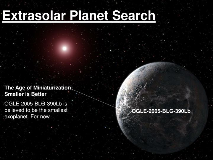 Extrasolar planet search